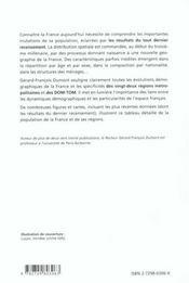 La population de la france des régions et des dom-tom - 4ème de couverture - Format classique