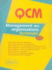 Management des organisations ; terminale stg - Intérieur - Format classique