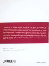 Emile Rousseau - 4ème de couverture - Format classique
