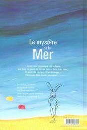 Mystere De La Mer - 4ème de couverture - Format classique