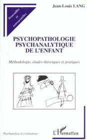 Psychopatologie Psychanalytique De L'Enfant - Intérieur - Format classique