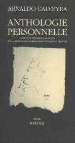 Anthologie personnelle - Couverture - Format classique