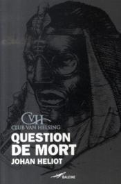 Question de mort : le sphinx - Couverture - Format classique