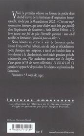 Le Fils De Loth - 4ème de couverture - Format classique