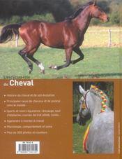 Encyclopedie Du Cheval (L ) - 4ème de couverture - Format classique