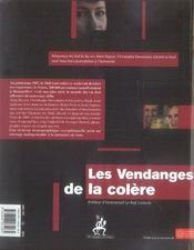 Les vendanges de la colère ; midi viticole, 1907-2007 - 4ème de couverture - Format classique