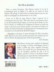 Du Nil Au Jourdain - 4ème de couverture - Format classique