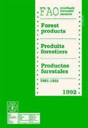 Annuaire des produits forestiers 1992 - Couverture - Format classique