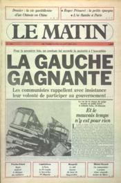 Matin De Paris (Le) N°280 du 23/01/1978 - Couverture - Format classique