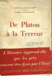 De Platon A La Terreur - Couverture - Format classique