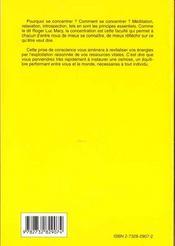 Reussir Grace A La Concentration - 4ème de couverture - Format classique
