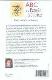 Abc de la pensée créatrice - 4ème de couverture - Format classique