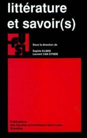 Litterature Et Savoir(S) - Couverture - Format classique