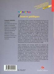 Finances Publiques 2000 - 4ème de couverture - Format classique