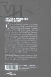 Mickey monster - 4ème de couverture - Format classique