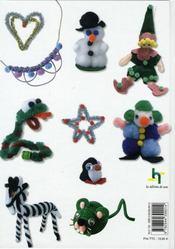 Scoubidous, pompons et fils chenille ; animaux, personnages et accessoires - 4ème de couverture - Format classique