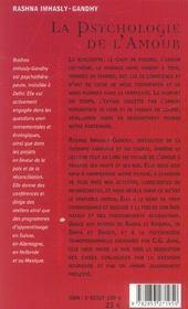 La psychologie de l'amour - 4ème de couverture - Format classique