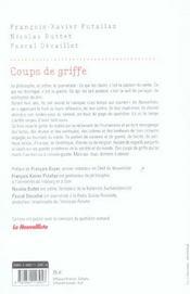 Coups De Griffe - 4ème de couverture - Format classique
