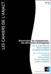 Reconnaitre Les Competences : Des Demarches D'Entreprises - Couverture - Format classique