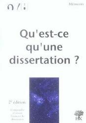 Qu'est-ce qu'une dissertation ? (2e édition) - Intérieur - Format classique