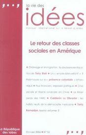 La vie des idées n.16 ; le retour des classes sociales en amérique - Intérieur - Format classique