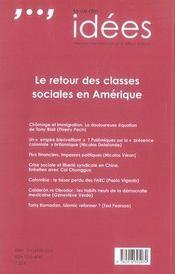La vie des idées n.16 ; le retour des classes sociales en amérique - 4ème de couverture - Format classique