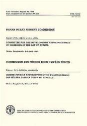 Commission des peches pour l'ocean indien ; rapport de la 8e session du comite de developpement - Couverture - Format classique