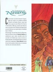 Les tentations de Navarre t.1 ; nostre Henric - 4ème de couverture - Format classique