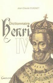 Dictionnaire Henri IV - Intérieur - Format classique