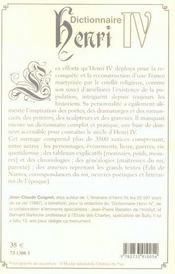 Dictionnaire Henri IV - 4ème de couverture - Format classique