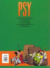 Les psy t.4 ; j'ai pas le moral - 4ème de couverture - Format classique