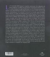 Signoret, montand ; deux vies dans le siècle - 4ème de couverture - Format classique