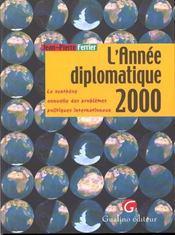 L'annee diplomatique 2000 - Intérieur - Format classique