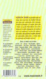 Marvin Gaye De A A Z - 4ème de couverture - Format classique