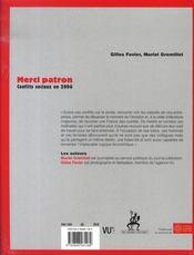 Merci patron ; conflits sociaux en 2006 - 4ème de couverture - Format classique
