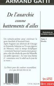 De L'Anarchie Comme Battements D Ailes T3 - 4ème de couverture - Format classique
