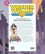 Wonder Woman. L'Encyclopédie De La Princesse Amazone. Tiré Des Archives De Dc Comics - 4ème de couverture - Format classique