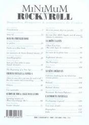 Minimum Rock'N'Roll Tome 2 - Bagnoles, Dragsters, Autoroutes De L'Enfer - 4ème de couverture - Format classique