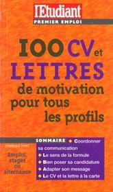 100 Cv Et Lettres De Motivation Pour Tous Les Profils - Intérieur - Format classique