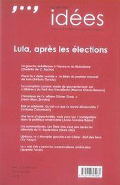 La vie des idées ; lula, après les élections - 4ème de couverture - Format classique