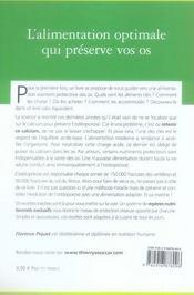 La diététique anti-ostéoporose - 4ème de couverture - Format classique
