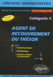 Agent De Recouvrement Du Tresor Categorie C Conseils Pratiques Methodologie Annales Corrigees - Intérieur - Format classique