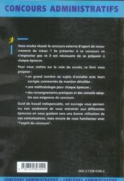 Agent De Recouvrement Du Tresor Categorie C Conseils Pratiques Methodologie Annales Corrigees - 4ème de couverture - Format classique