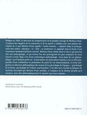 La Structure Du Comportement Chap.Iii.3 L'Ordre Humain Merleau-Ponty - 4ème de couverture - Format classique