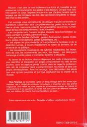 Les Clefs De Votre Comportement - 4ème de couverture - Format classique