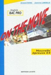On the move bac pro - Couverture - Format classique