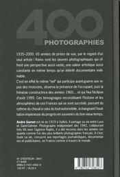 Douces Frances 1935-2000 - 4ème de couverture - Format classique