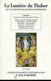 Orthodoxie Et Patrimoine Spirituel De L'Europe - Couverture - Format classique