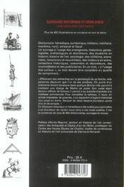 Glossaire Historique Et Heraldique Larcheologie Des Mots - 4ème de couverture - Format classique
