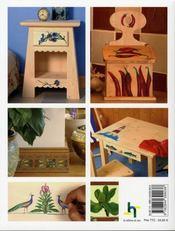La peinture sur bois. motifs et planches d'exercices - 4ème de couverture - Format classique